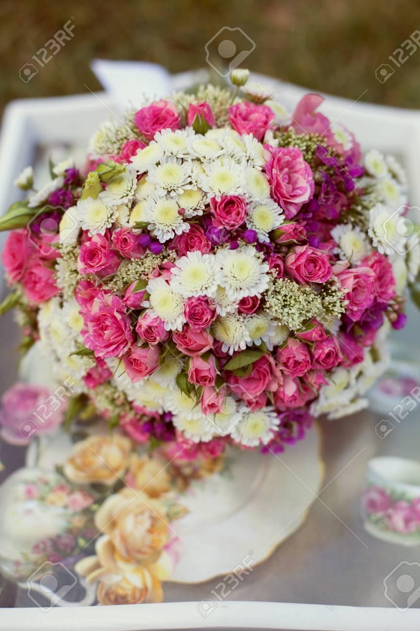 Poster Bouquet De Mariage Rose Et Blanc