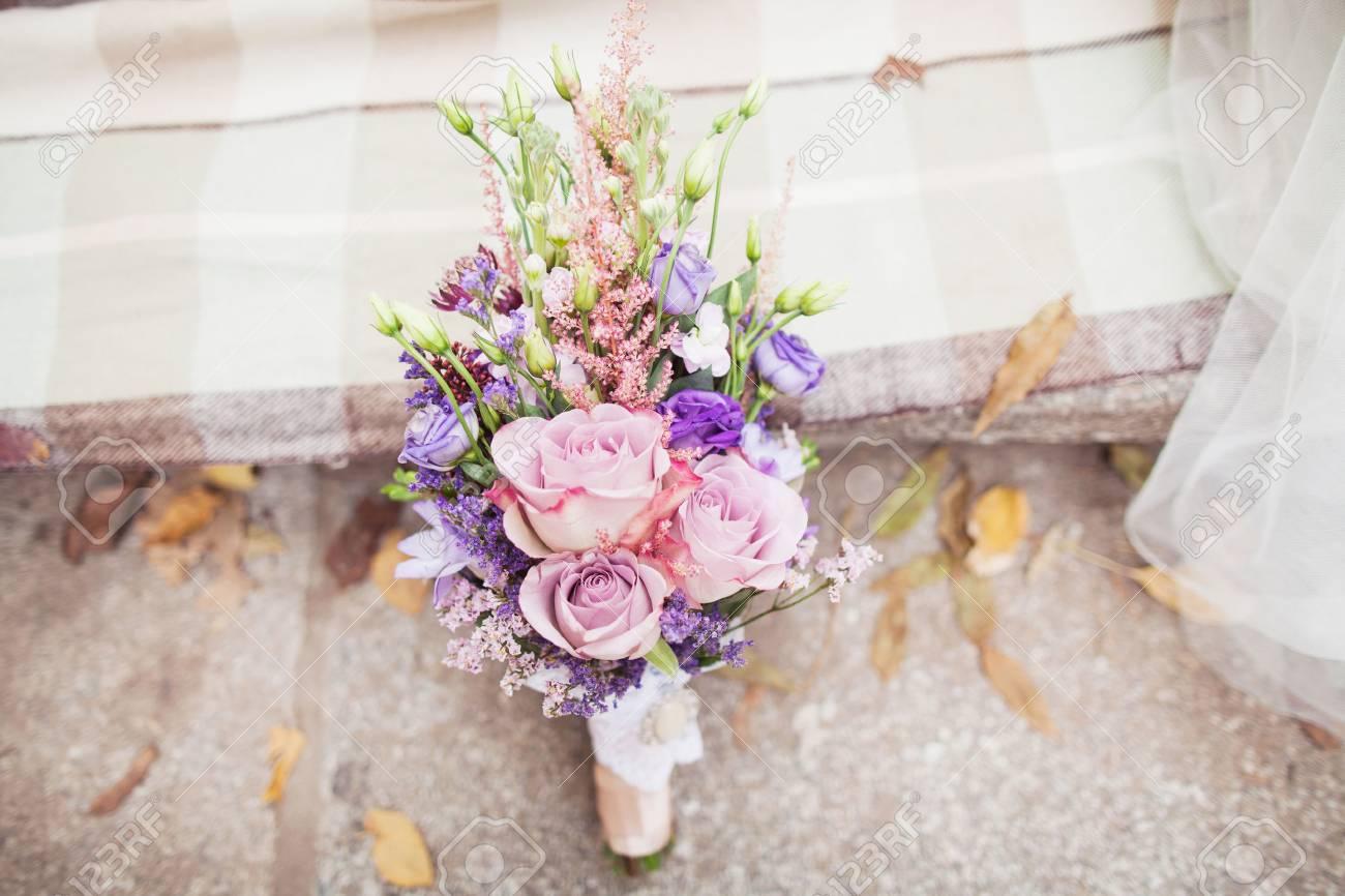 Blaue Und Weisse Hochzeitsstrauss Lizenzfreie Fotos Bilder Und Stock