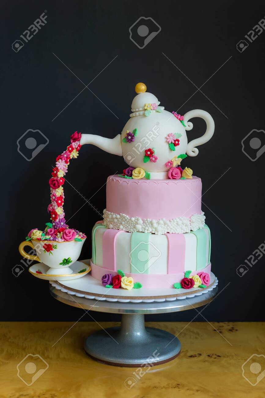 Prime Beautiful Birthday Cake Stock Photo Picture And Royalty Free Personalised Birthday Cards Bromeletsinfo