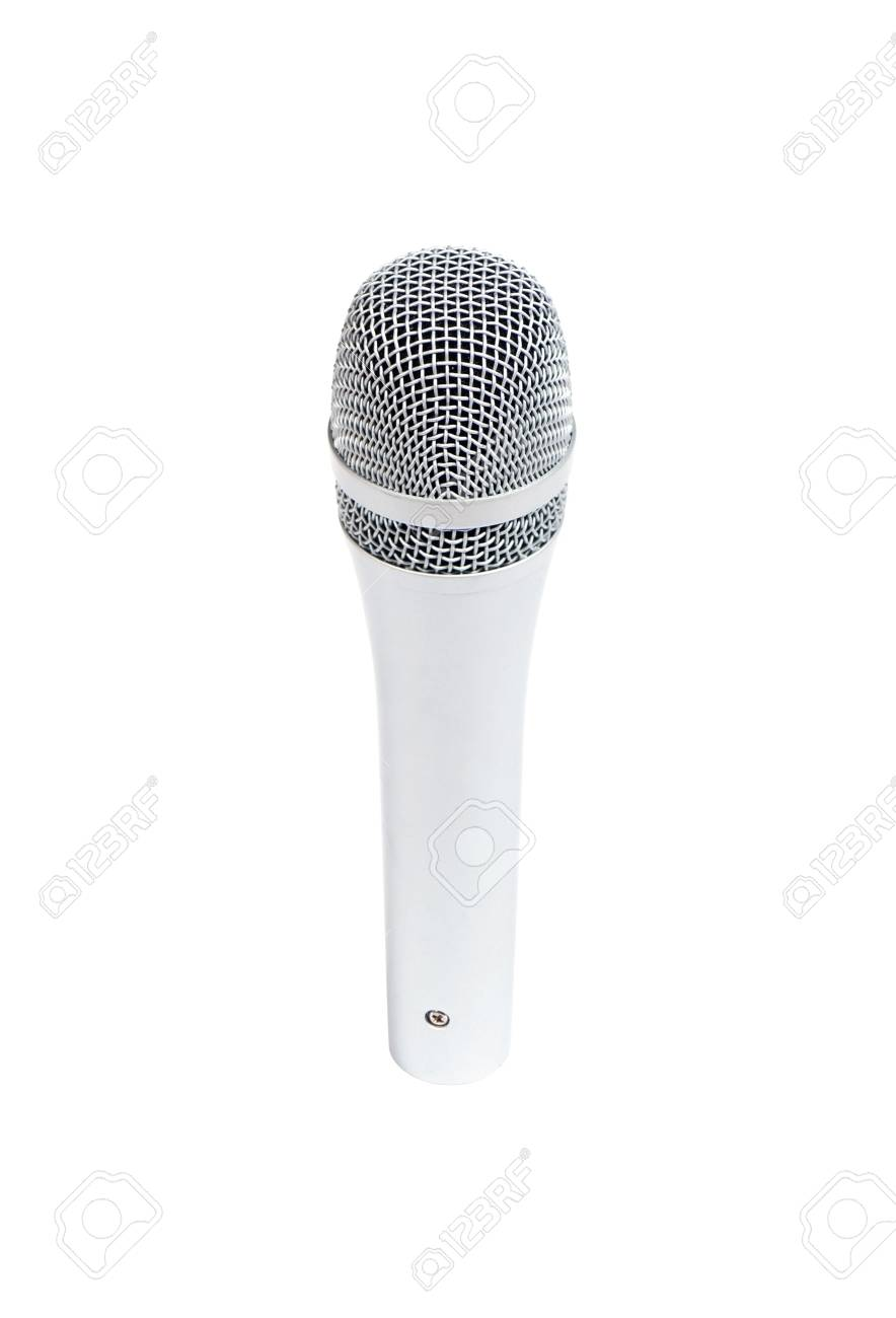Beautiful new microphone on a white background Stock Photo - 6241303