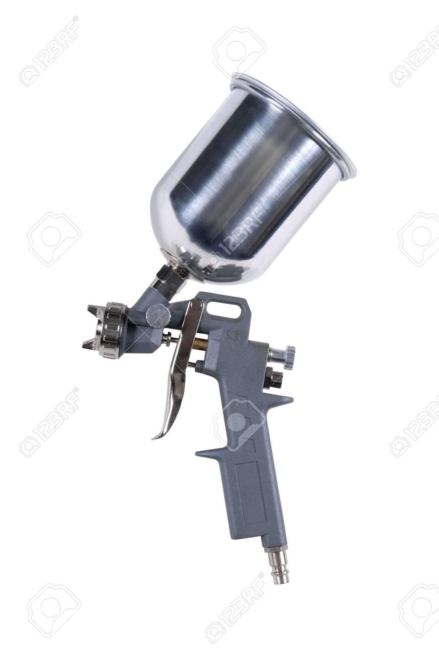Spray gun isolated over white background - 7884762
