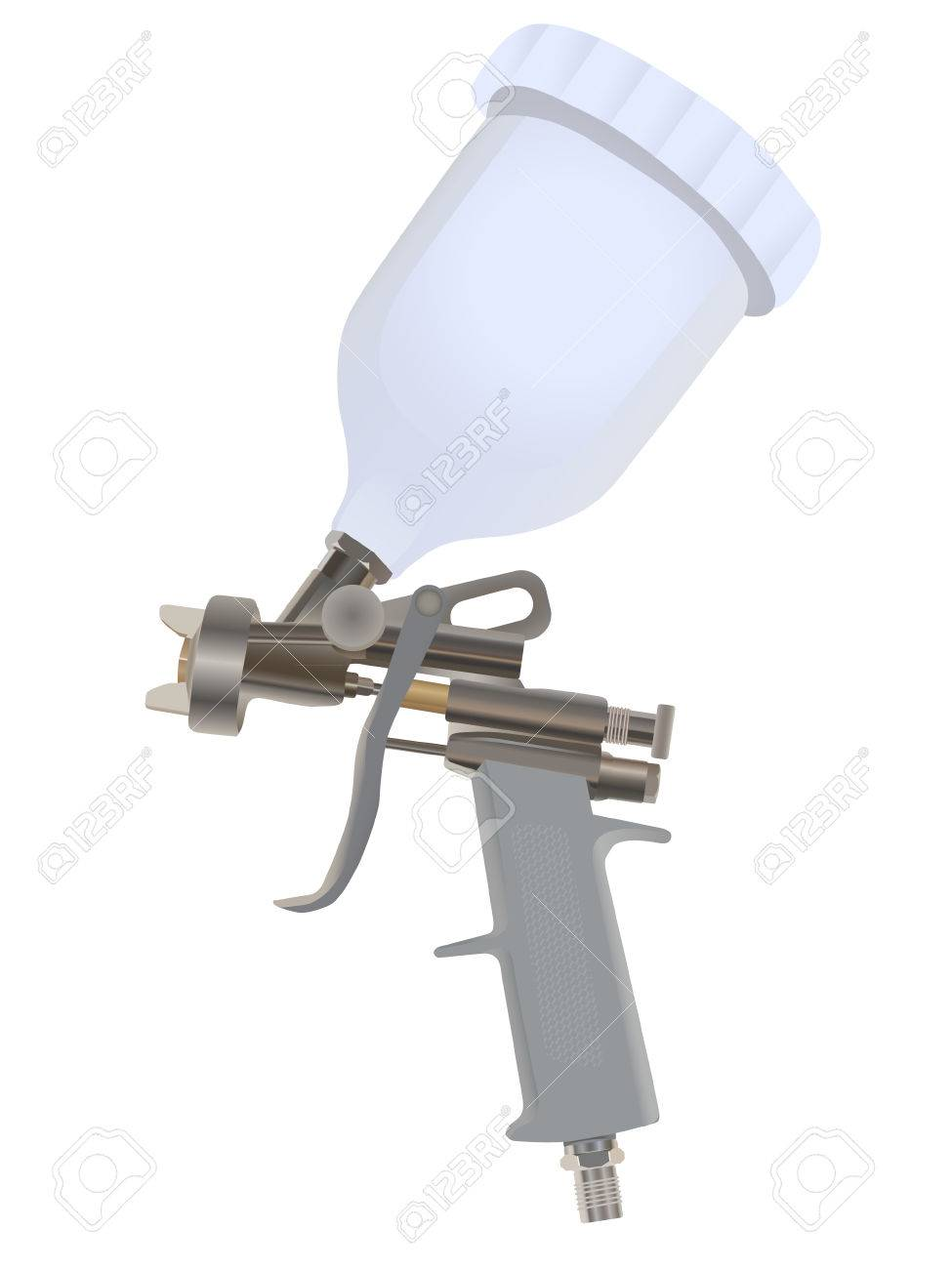 Spray gun isolated on a white backgraund Stock Vector - 8330726