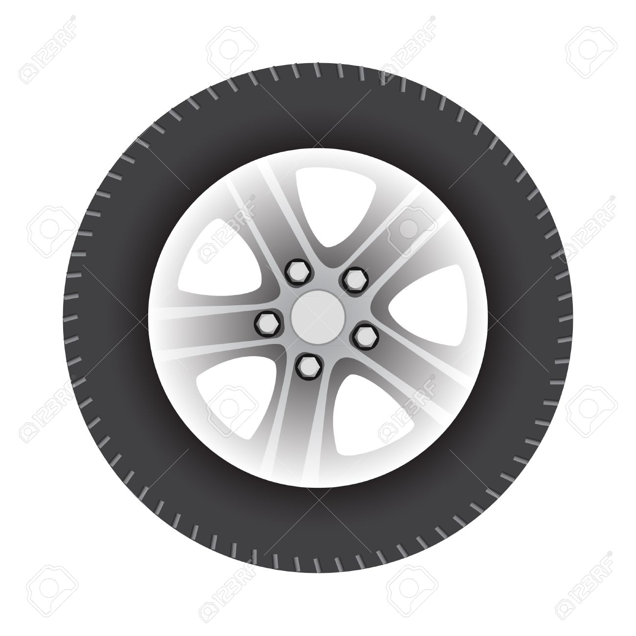 car wheel vector illustration isolated on white background - 10441147