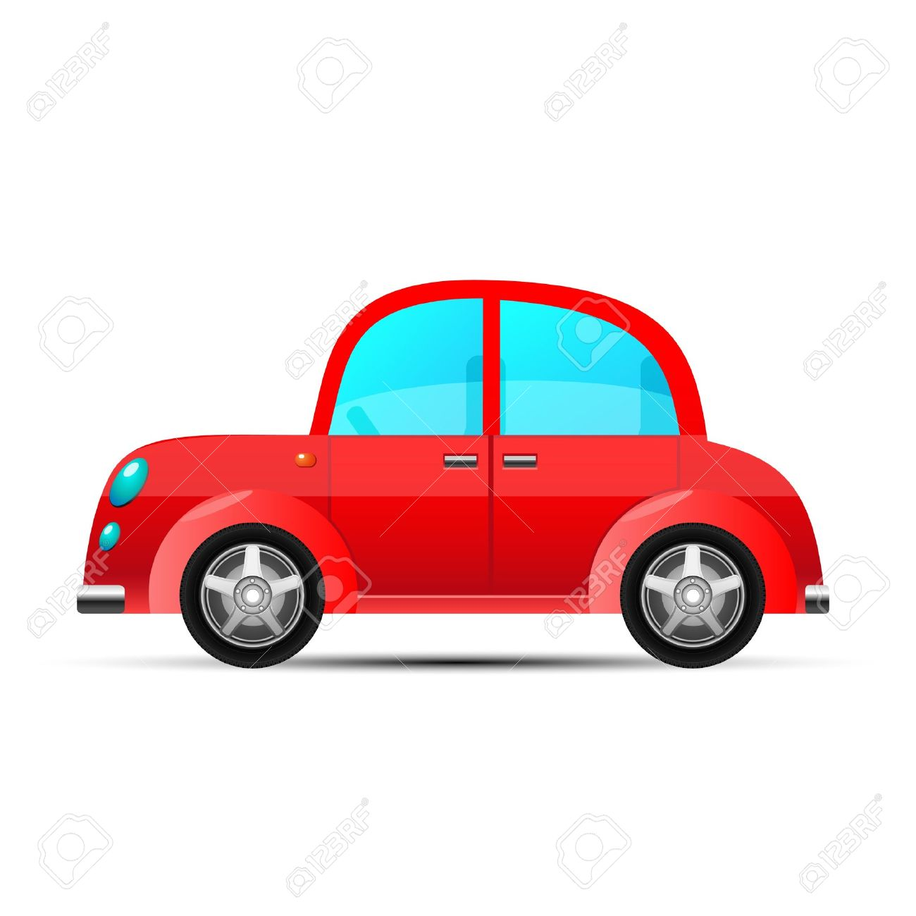 red car, vector - 10673583