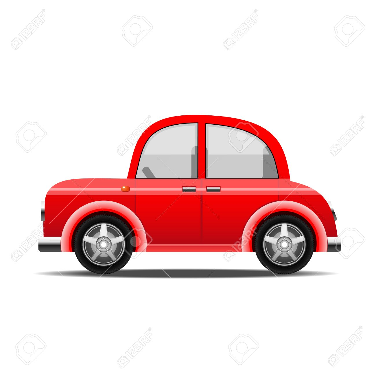 red car, vector - 10708783