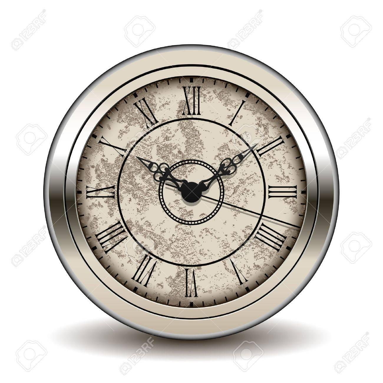 Antique clock Stock Vector - 12208312