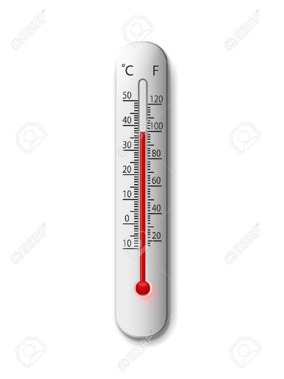 thermometer on a white - 12483423