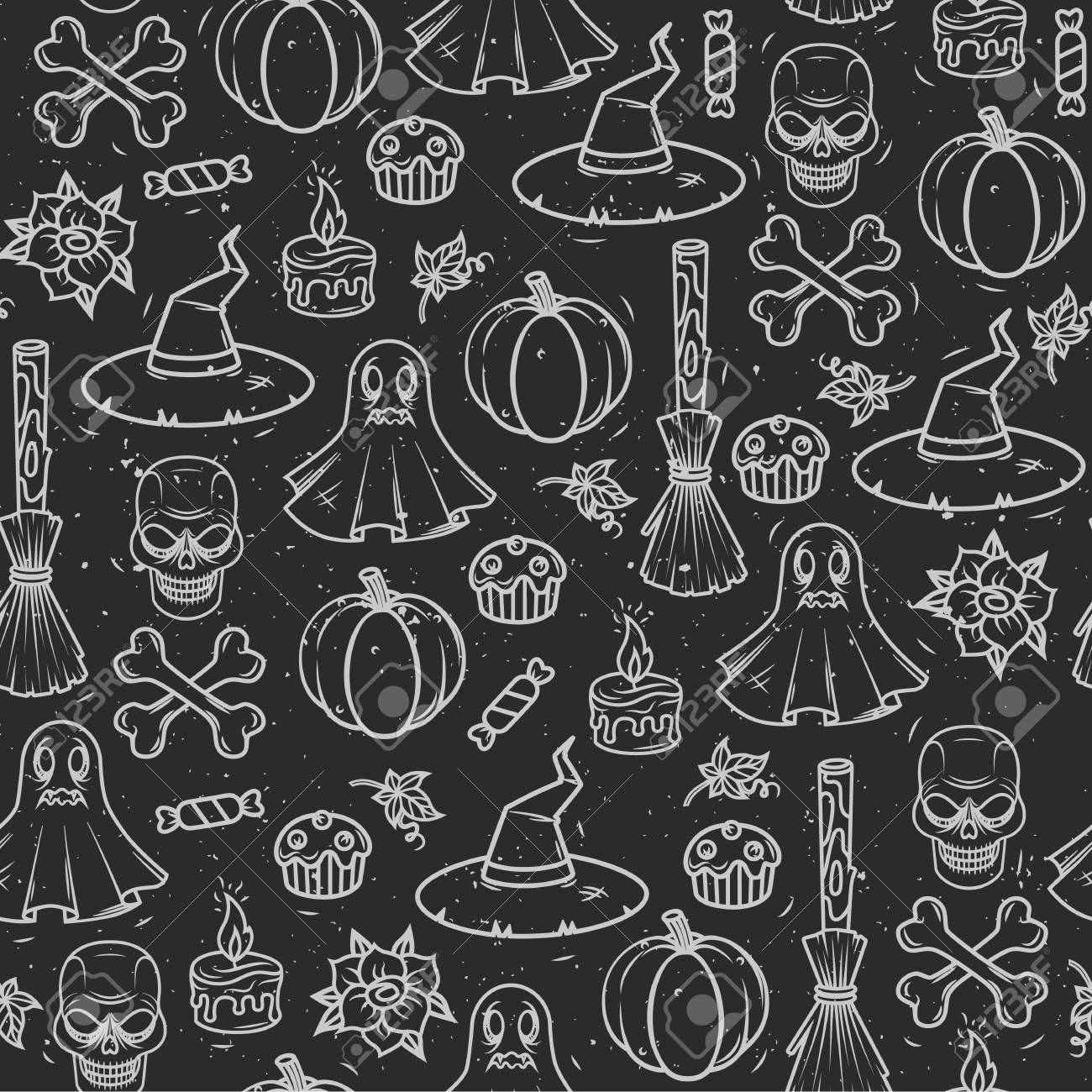 Seamless Vector Pattern For Halloween ...