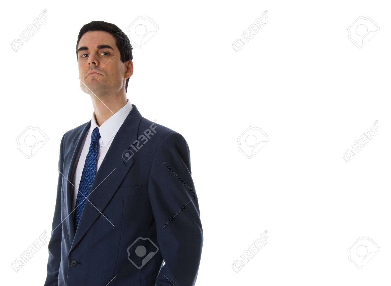 man in a blue siut on white background Stock Photo - 652977