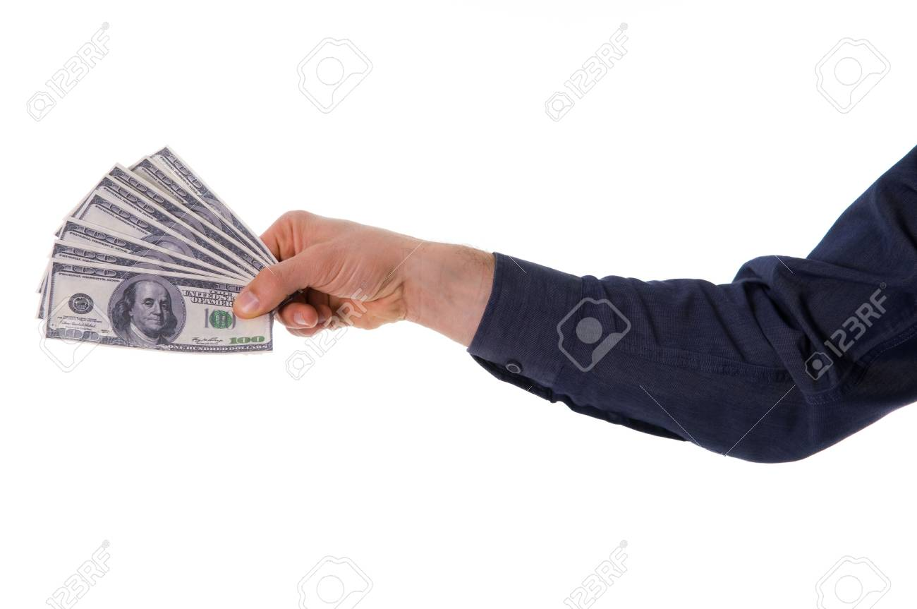 business man with some money on white Stock Photo - 2784455