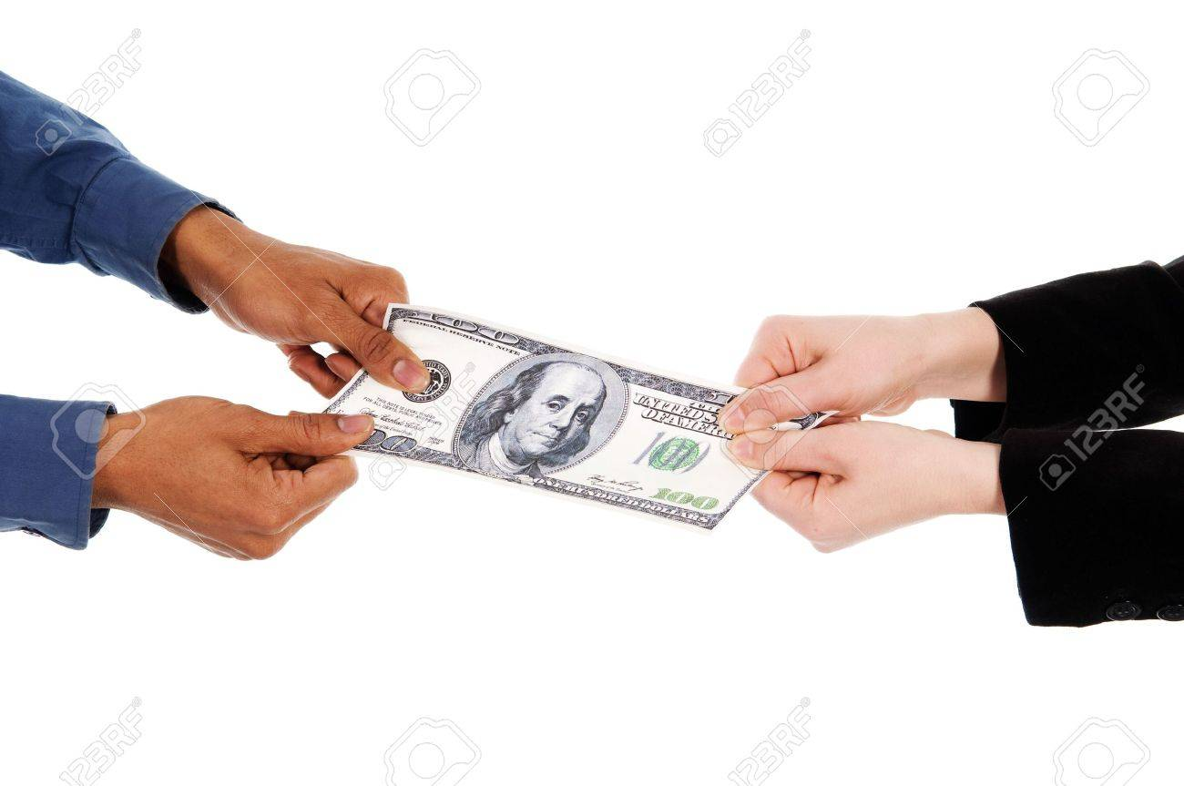business people fighting over some us money Stock Photo - 2876306