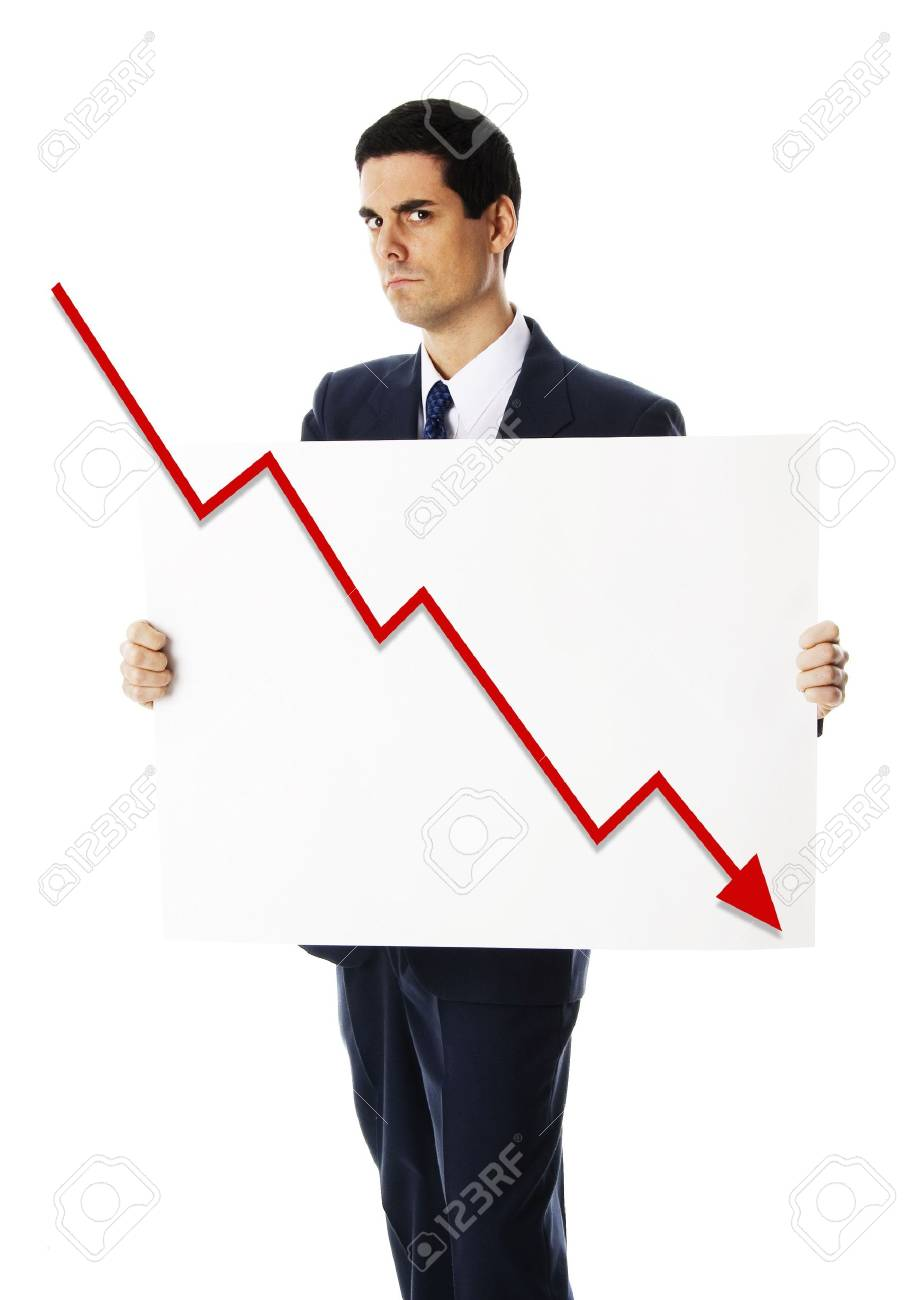 man holding a blank card for financial crisis Stock Photo - 3671577