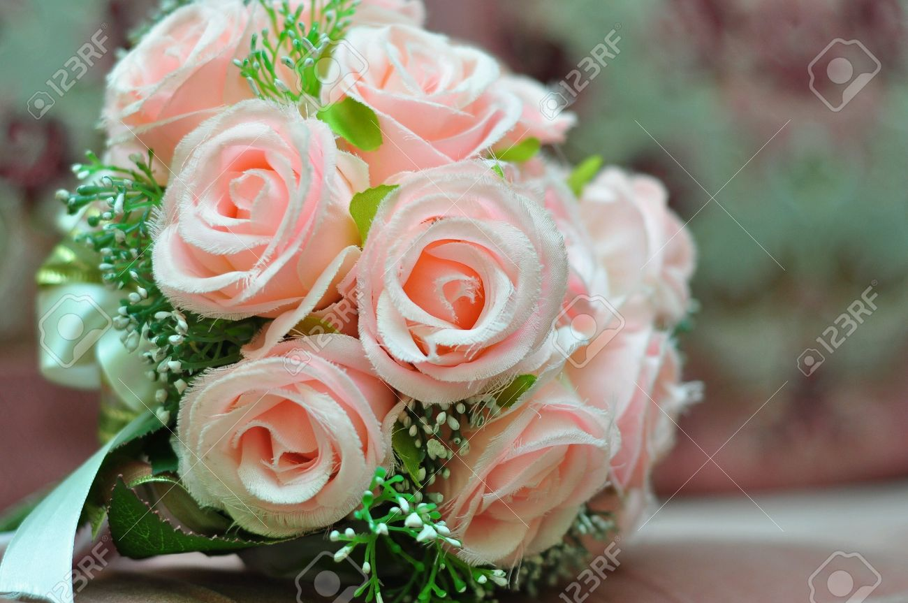 Hand Bouquet Of Flowers For Engagement Ceremony Stock Photo, Picture ...