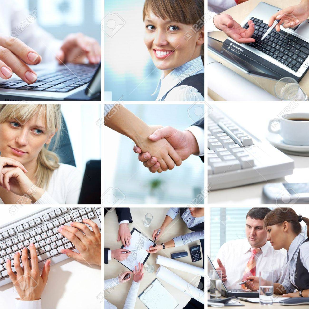 collage of photographs on the subject of a successful business Stock Photo - 10508628
