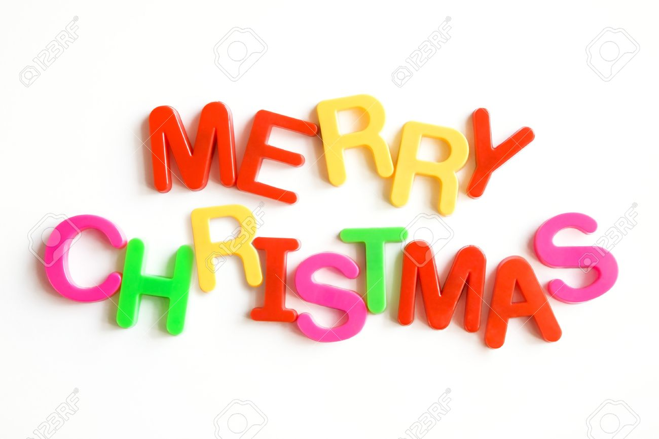 Simple Text: Merry Christmas Stock Photo, Picture And Royalty Free ...