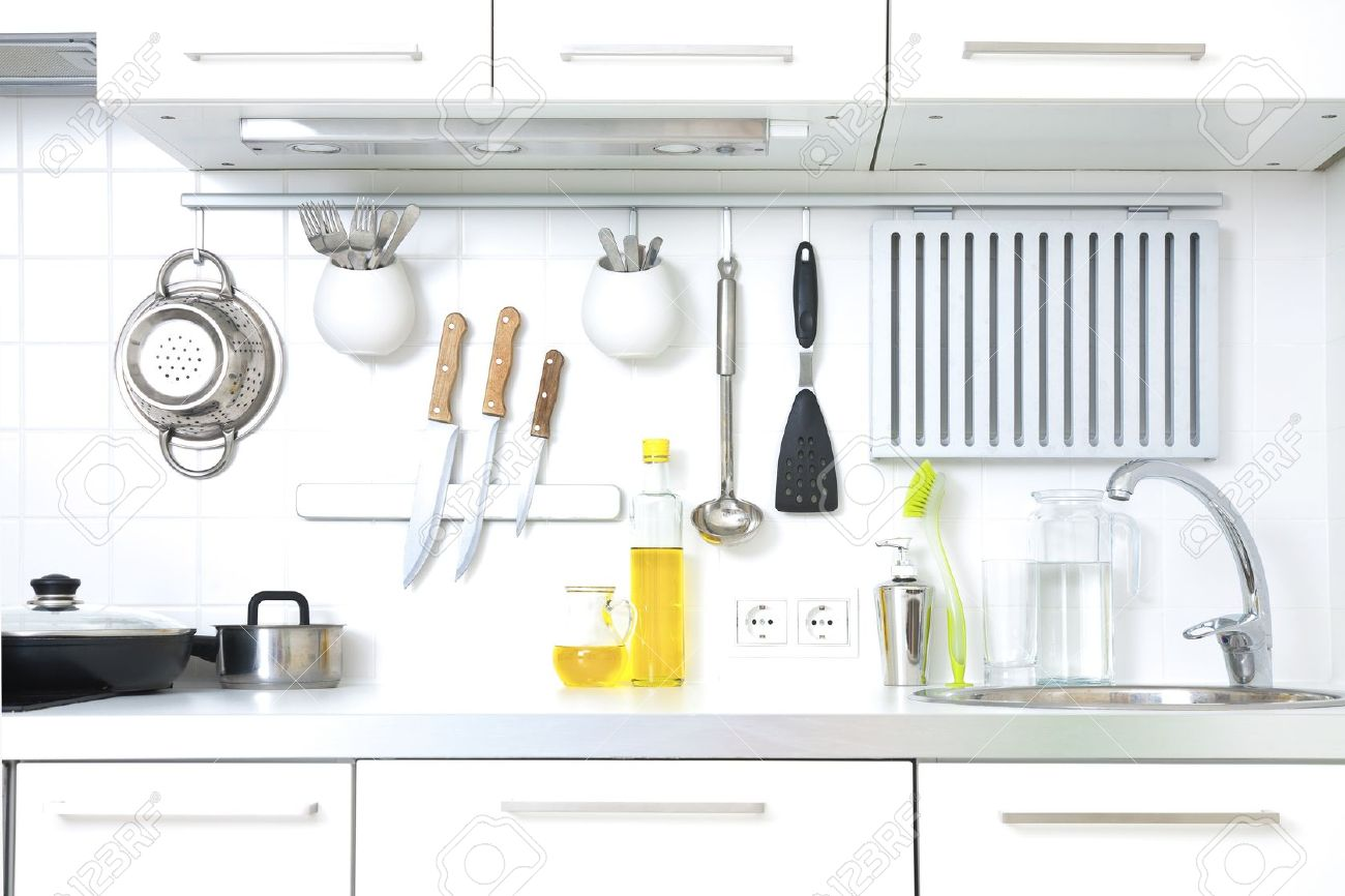 kitchen knife stock photos royalty free kitchen knife images and kitchen knife modern kitchen at home with kitchenware stock photo