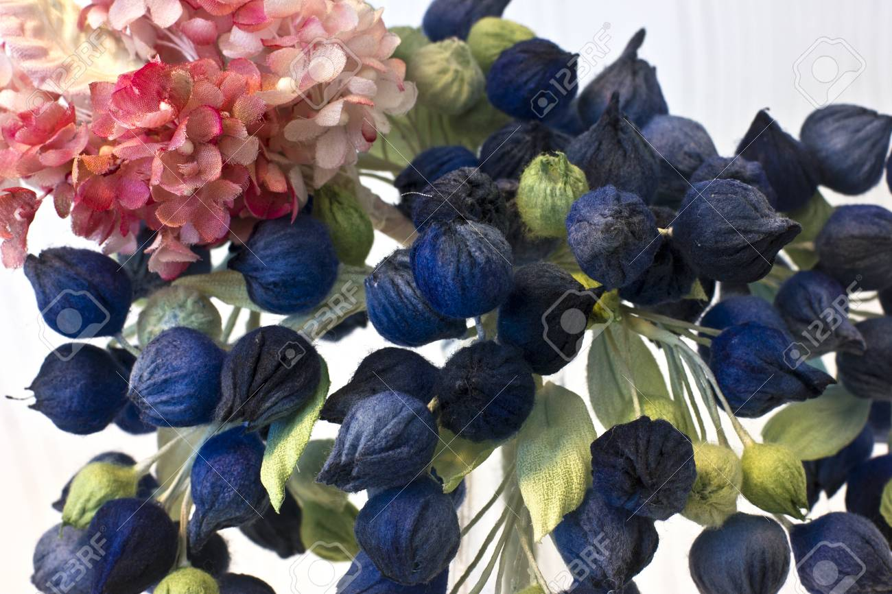Pink Lilac And Blue Small Flowers Buds Artificial Silk Flowers