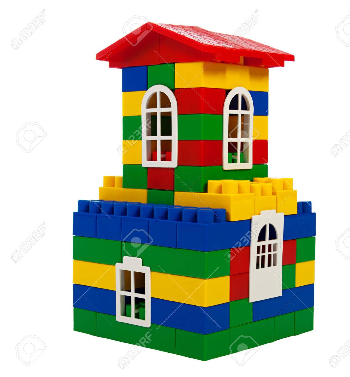 toy colorful house isolated on a white background - 22507789