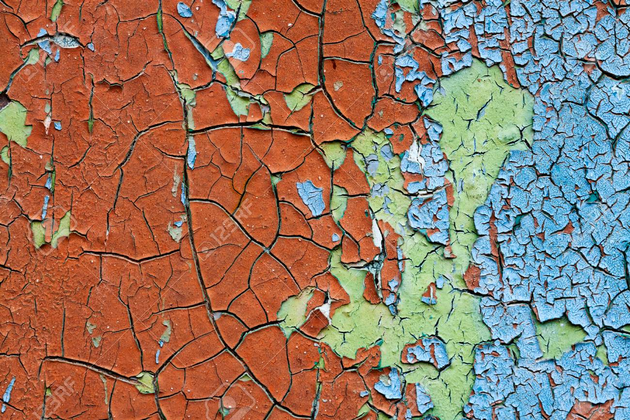 old abstract background from the cracked paint on rusty iron Stock Photo - 23016554