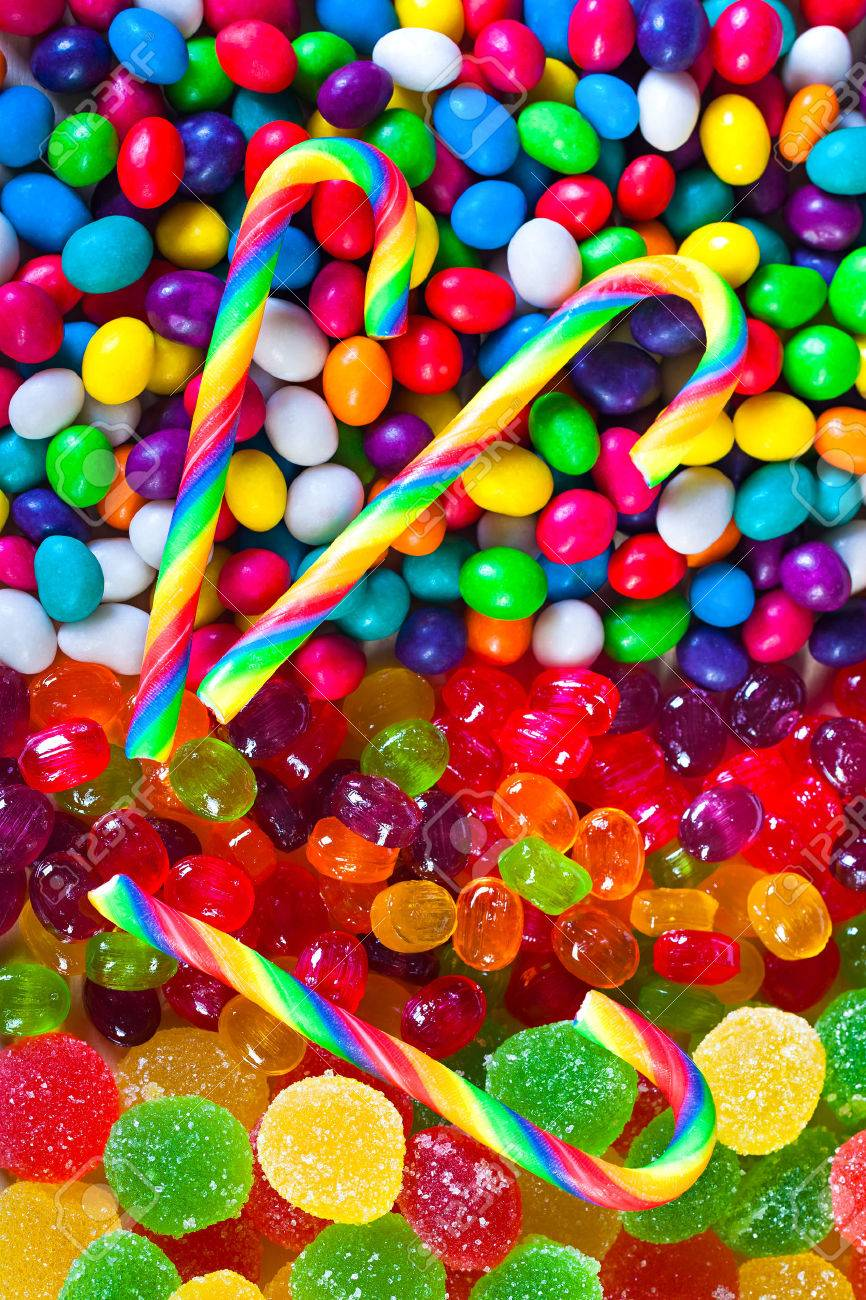 close up a background from colorful sweets of sugar candies - 25120823