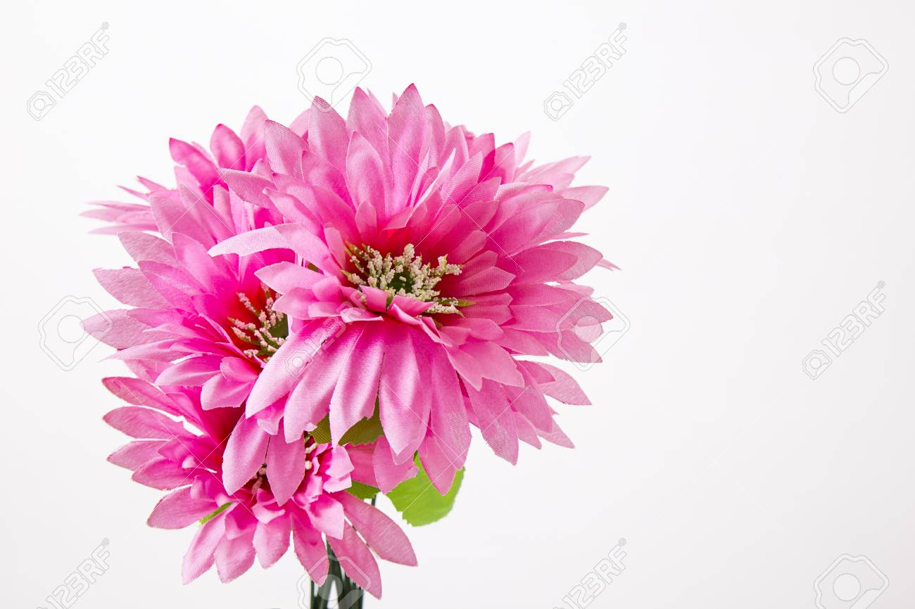 Small Bouquet Of Fake Flower Make Out Of Cloth Stock Photo Picture