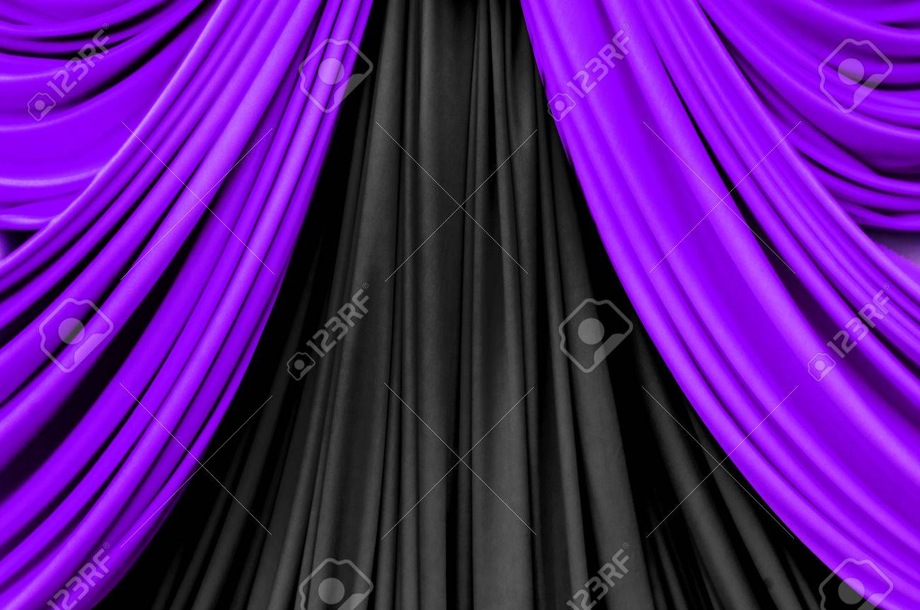 Bl blue stage curtains background - Purple And Black Curtain On Stage For Luxuary Background Stock Photo 35045348