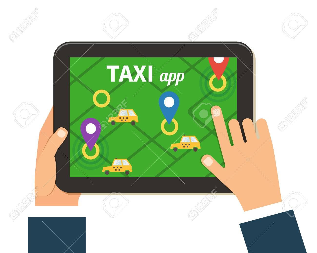 Public Taxi Online Service Mobile Application Navigation Map - Navigation map online