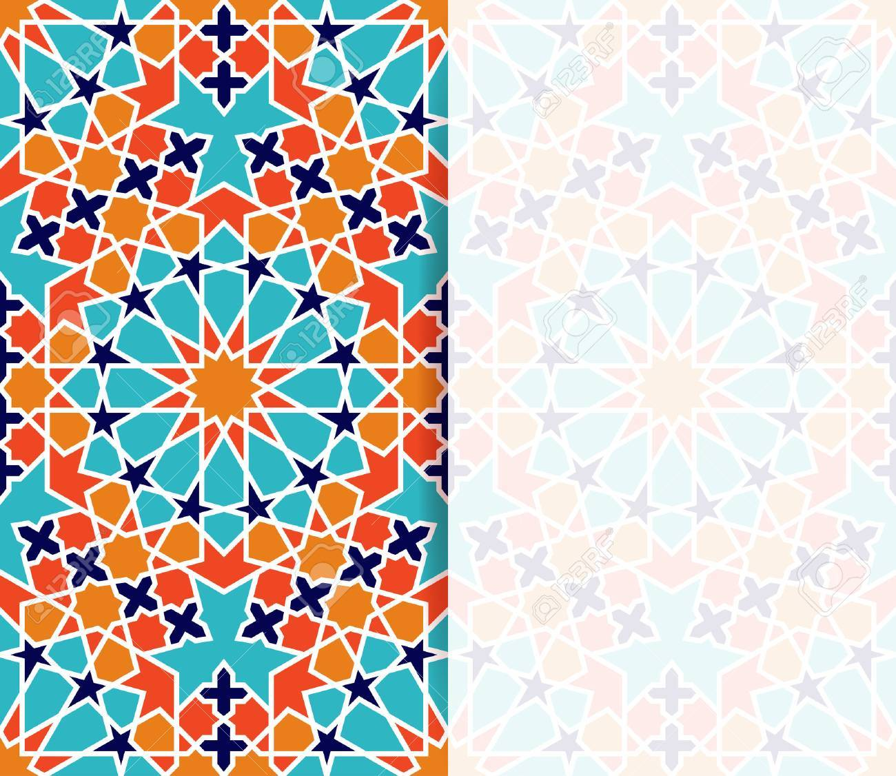 Islamic pattern greeting flyer in islamic design vector invitation islamic pattern greeting flyer in islamic design vector invitation background in islamic style stock stopboris Images