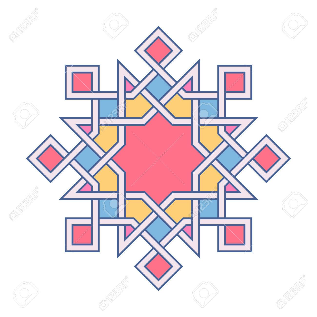 Marvelous Islamic Pattern. Vector Geometric Lattice Mandala In Arabic Style Stock  Vector   73972053