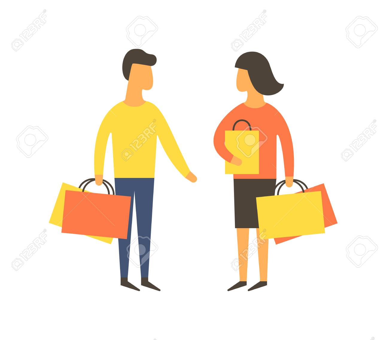 shopping people with bags vector illustration royalty free cliparts rh 123rf com shopping victoria texas shopping victoria british columbia