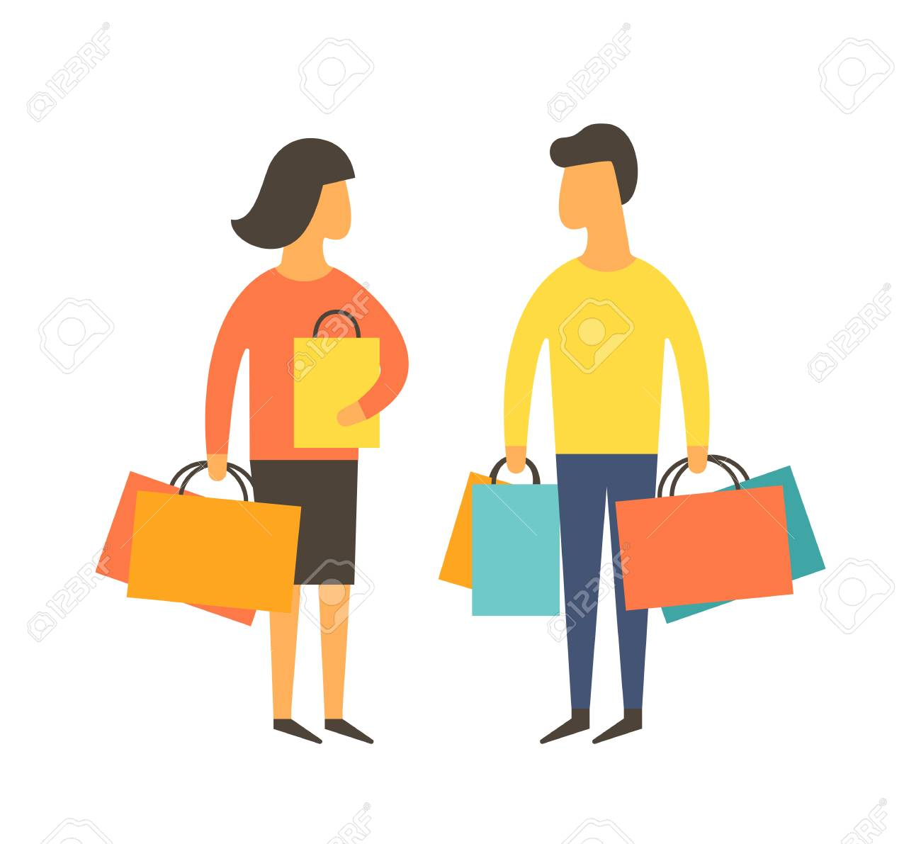 shopping people man helping woman with bags vector illustration rh 123rf com shopping victoria shopping victoria texas