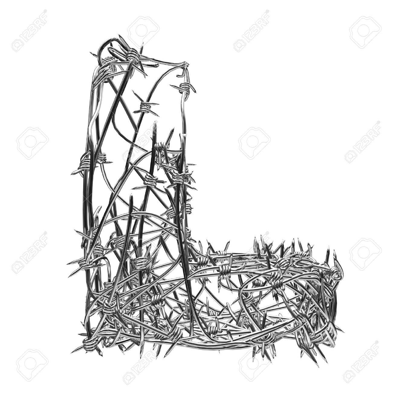 barbed wire type with alpha channel l Stock Photo - 3947542