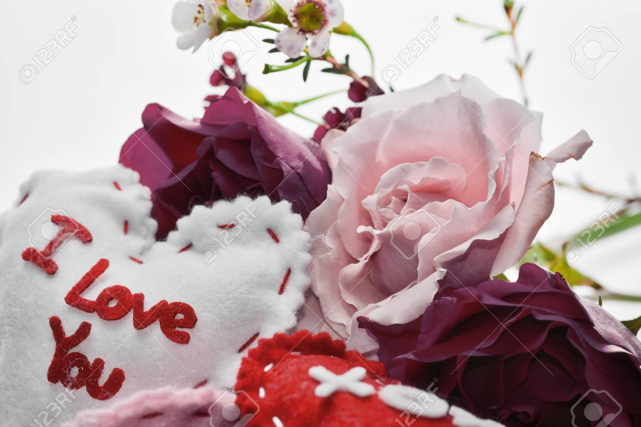 Flowers And Love Messages For A Holiday Stock Photo Picture And