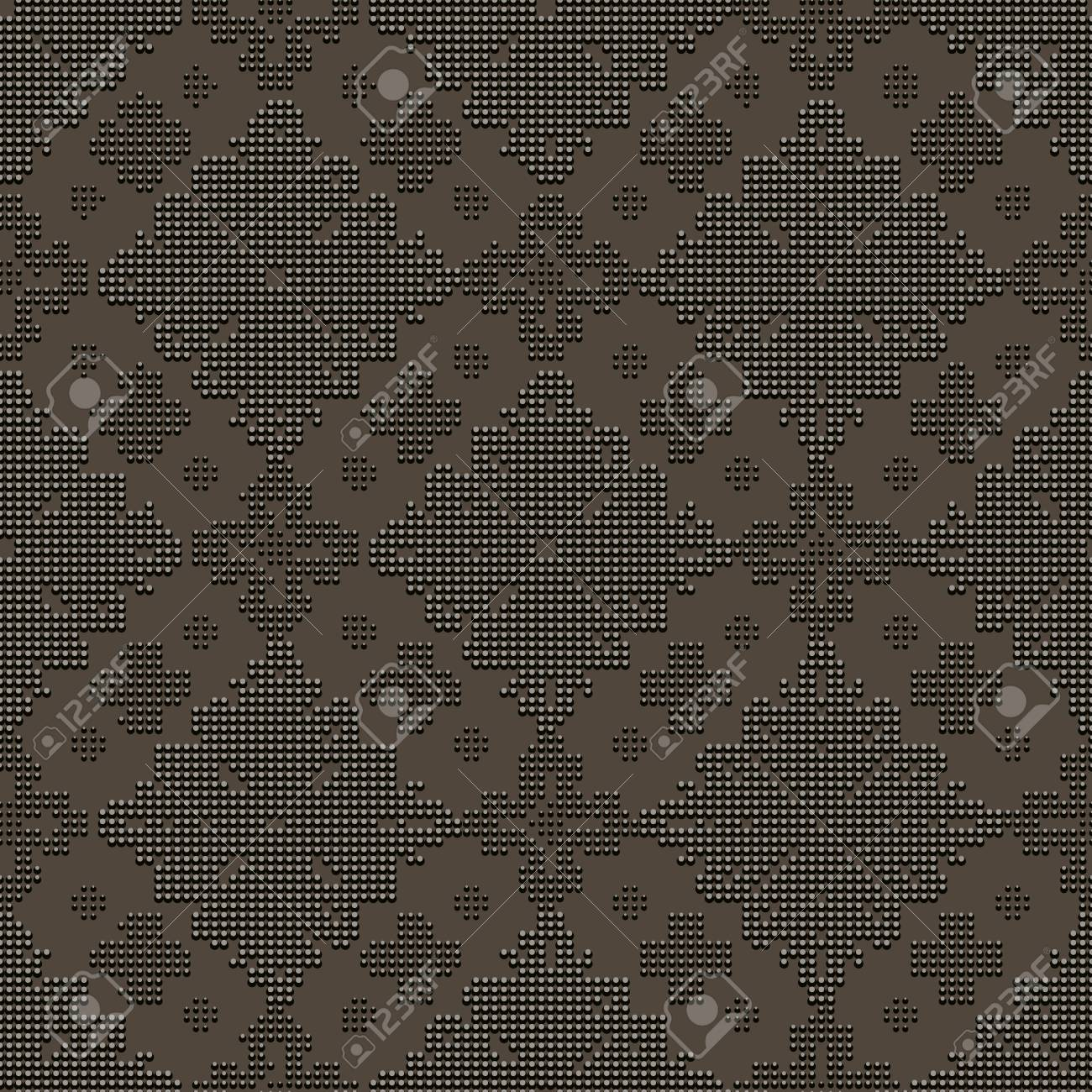 Oscuro Patrón Clásico Transparente En Forma De Bordados De Perlas ...