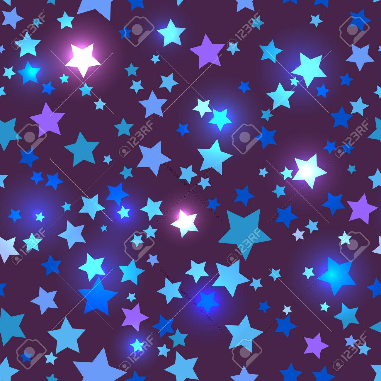 Holidays bright seamless with shiny blue stars on a dark background holidays bright seamless with shiny blue stars on a dark background in disco style stock vector thecheapjerseys Gallery
