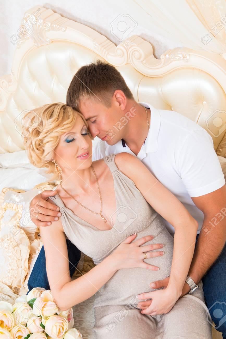 Romantic baby couple