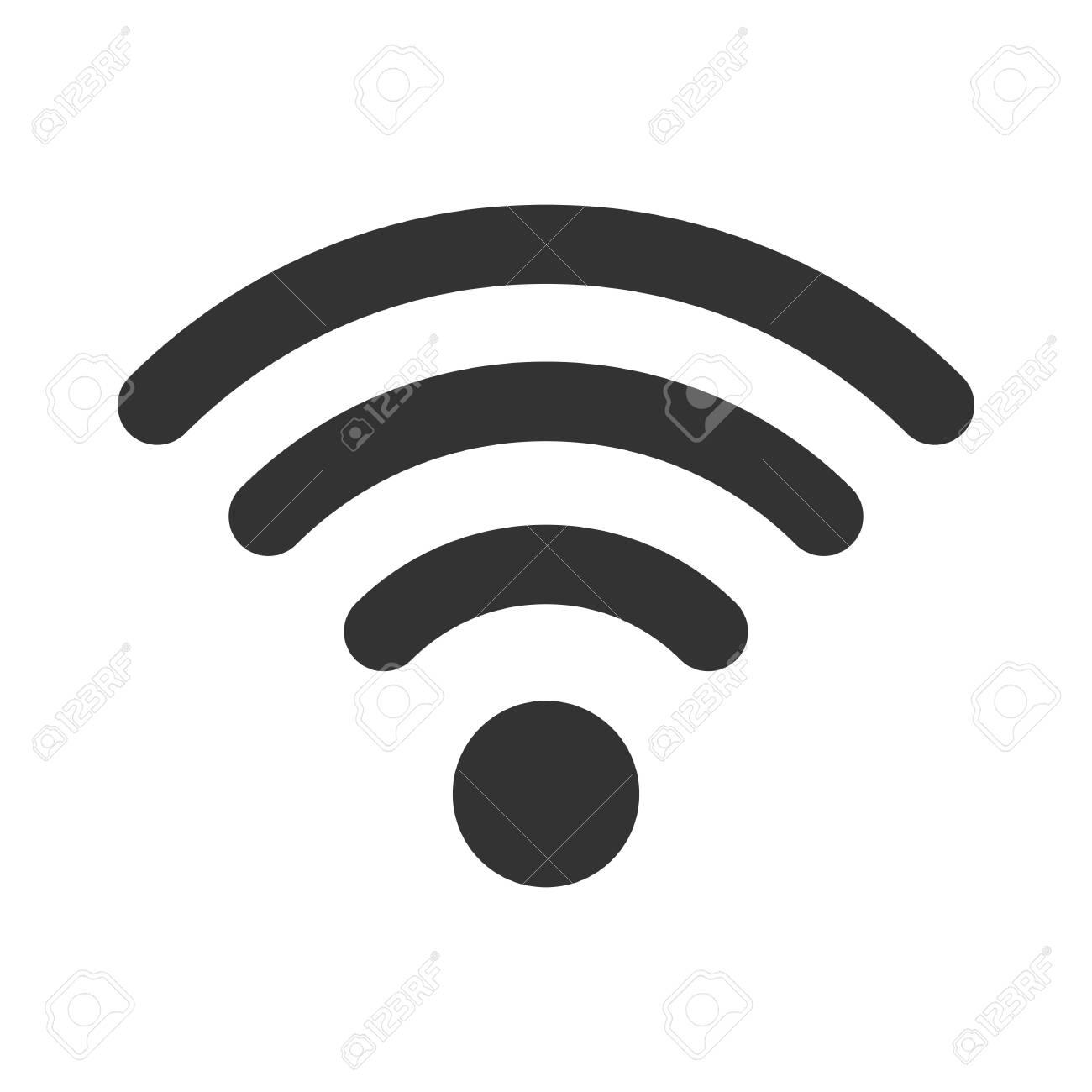 Wifi sign. Wifi symbol. Wireless Network icon. Wifi zone. Signal - 140498343