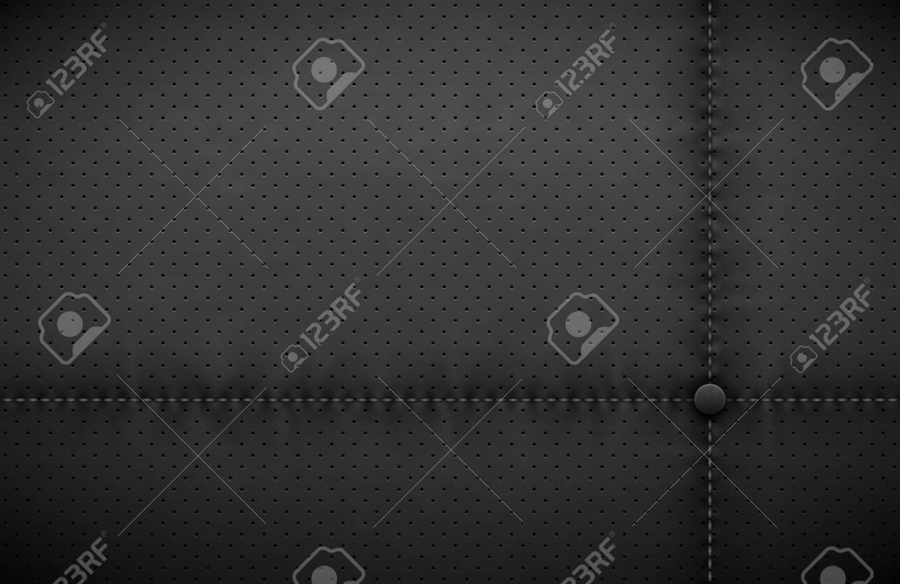 Vector Dark Gray Perforated Leather Texture Wallpaper Realistic