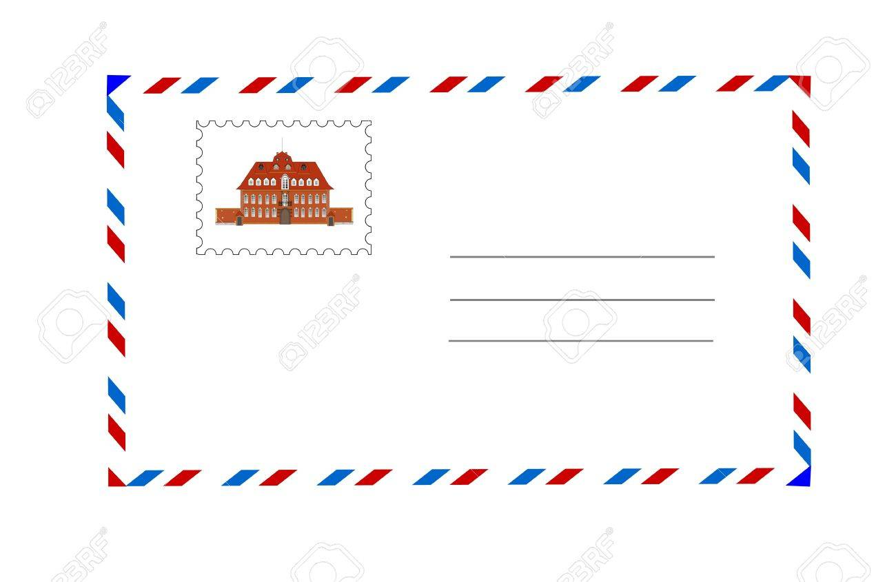 envelope and postage stamp vector illustration Stock Vector - 9266897