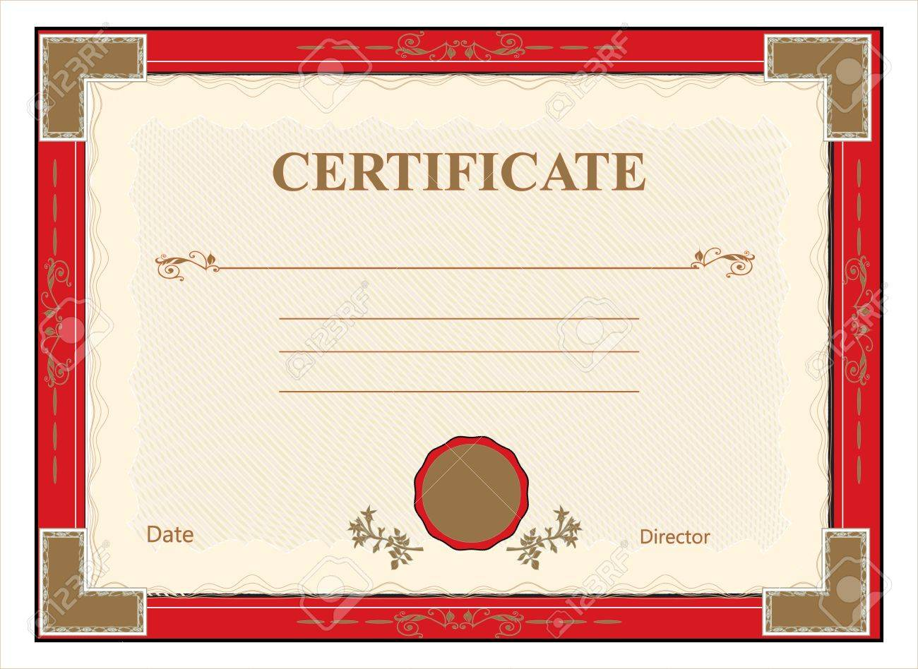 certificate, diploma for print vector Stock Vector - 14661372