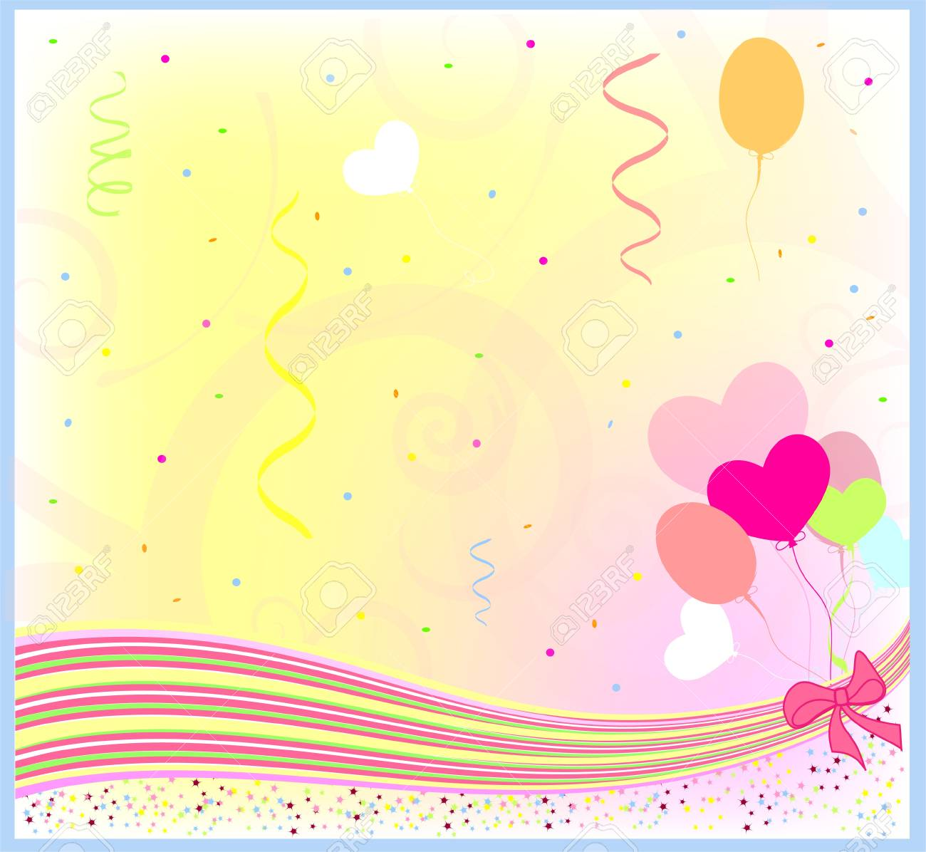 Happy Birthday Greeting Background Royalty Free Cliparts Vectors