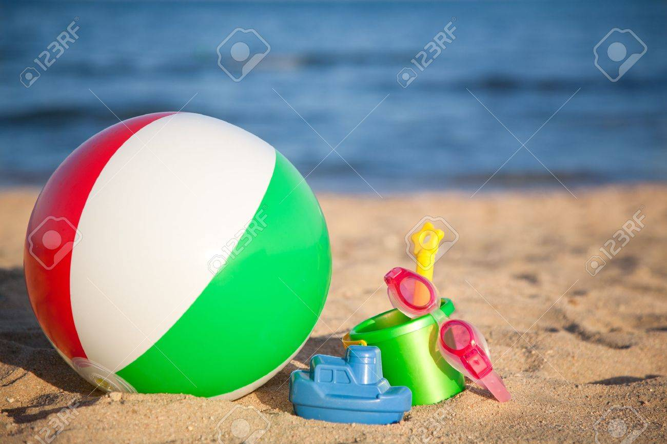 Image result for large inflatable ball with beach bucket