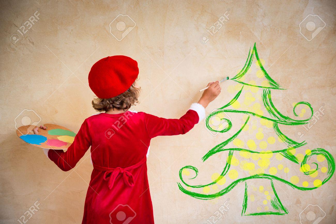 Enfant Peinture Décorations De Noël Kid Jouer à La Maison Xmas
