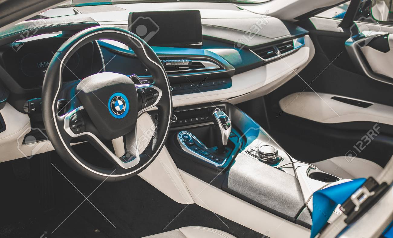 14 08 2017 Chisinau Republic Of Moldova Bmw I8 Interior Look