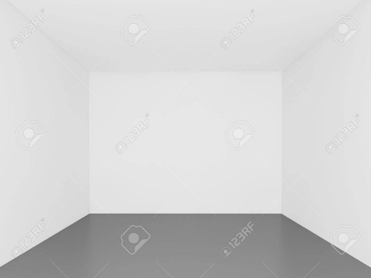 Weiße Wand Leerer Raum 3d Interior Lizenzfreie Fotos Bilder Und