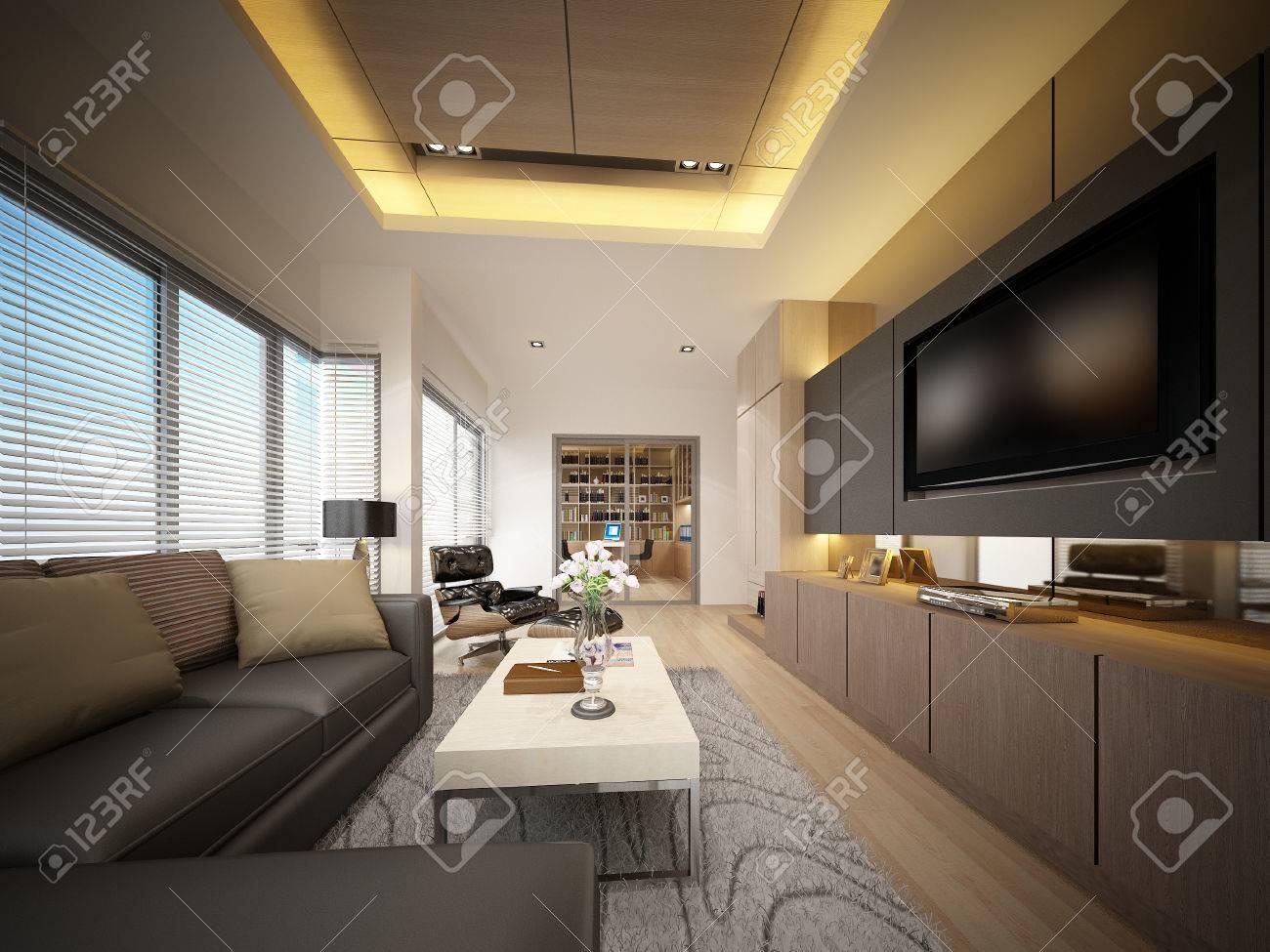 3d render of living room - 42310239