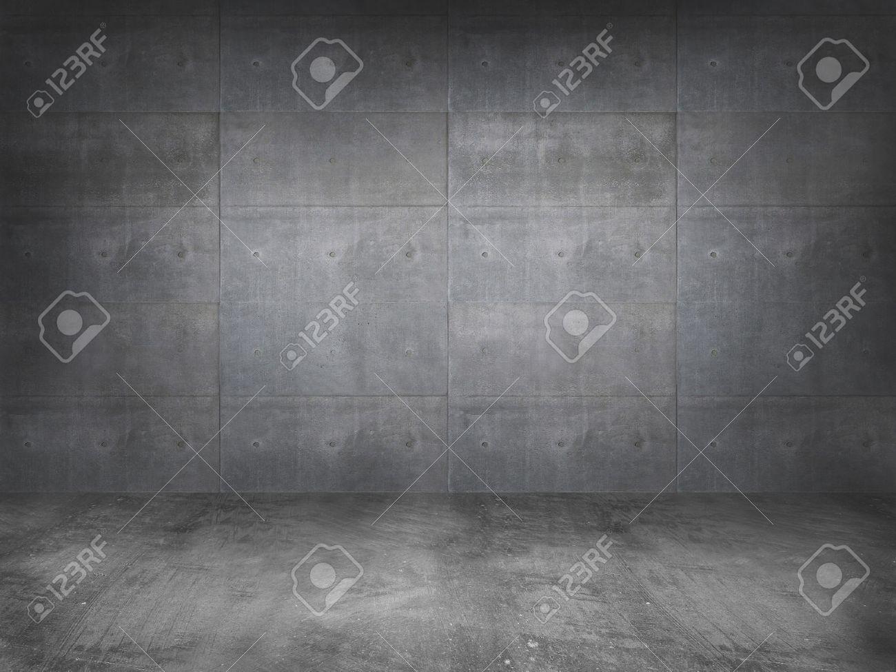 concrete wall with concrete floor,3d - 42558739