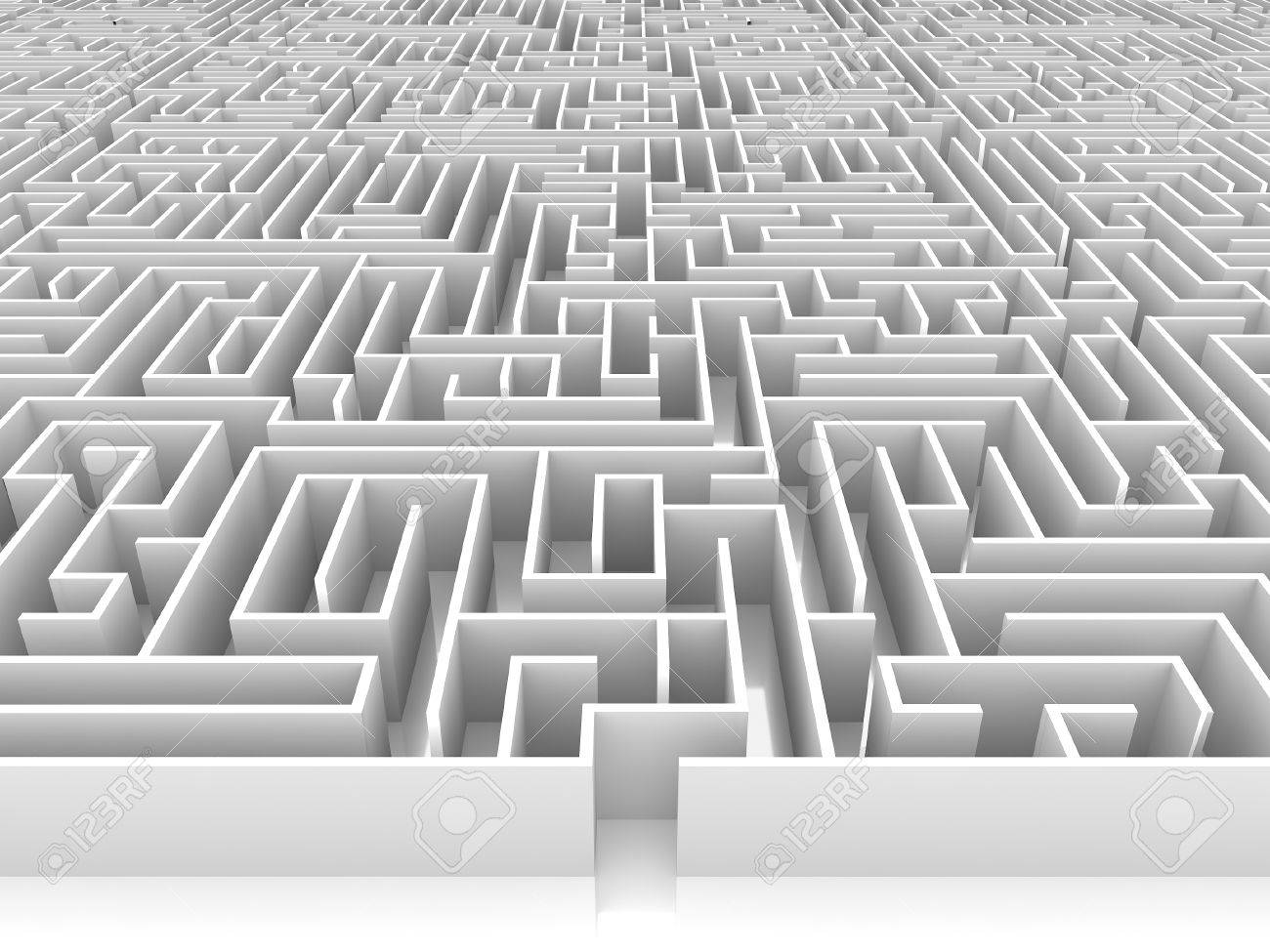 endless maze 3d illustration - 43119112