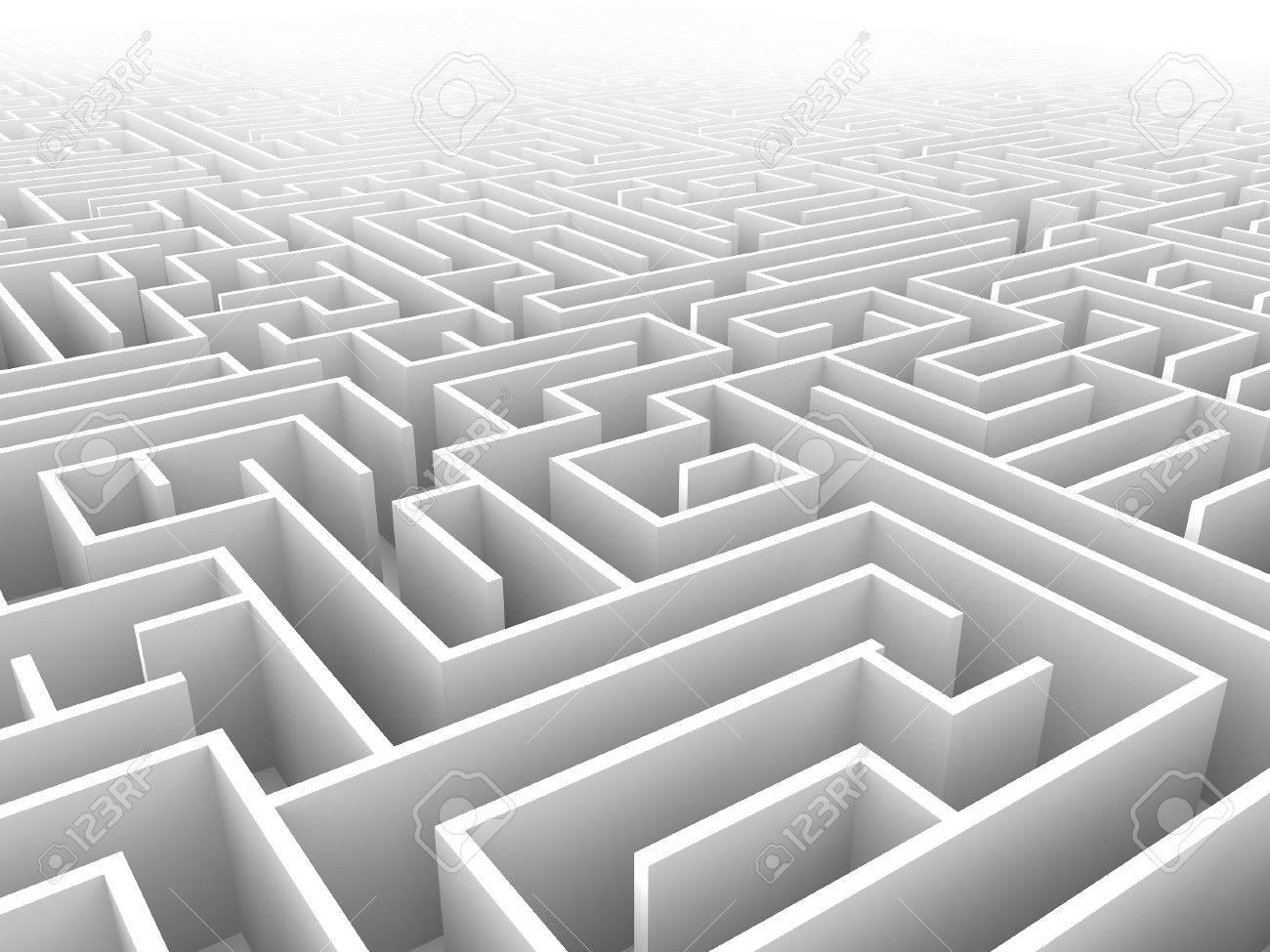 endless maze 3d illustration - 43119138