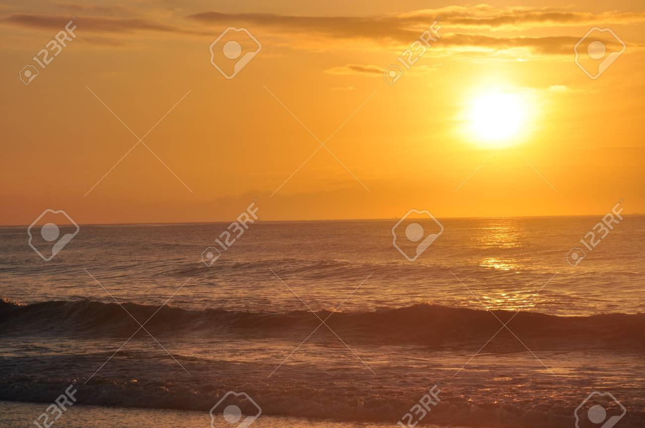 Sea sparkling in the morning sun
